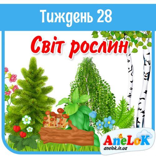 #НУШ Тиждень 28. Світ рослин
